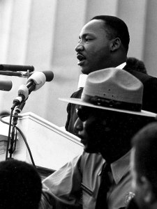 "Martin Luther King's ""dream"" speech in 1963 was one of the gretaest"