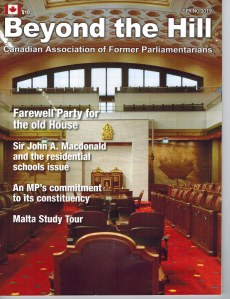 Former MP Dennis Gruending was interviewed in a recent issue of Beyond the Hill magazine about his book Speeches That Changed Canada