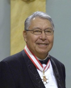 Nisga'a negotiator Joseph Gosnell spoke to the British Columbia legislature in 1998, urging adoption of the Nisga'a treaty.