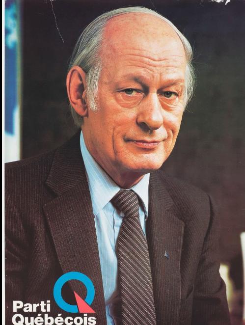 In March 1980. Quebec Premier René Lévesque spoke in favour of Quebec sovereignty